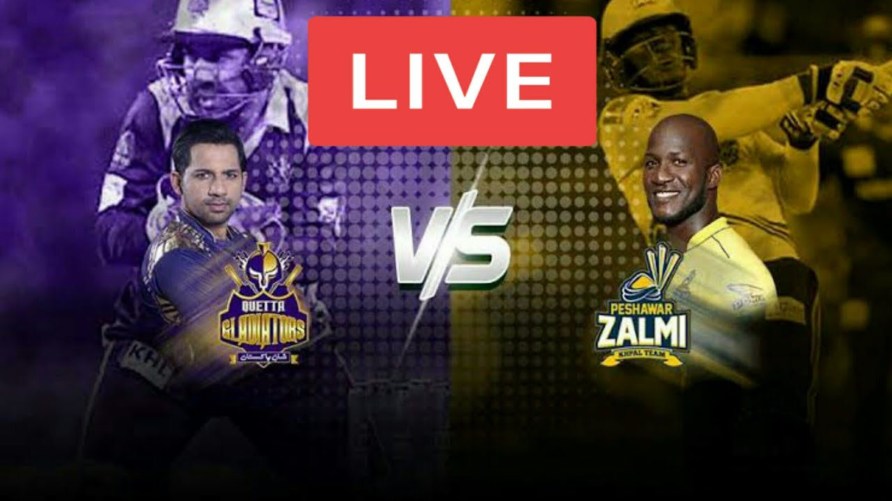 PTV Sports Live Streaming-Quetta Gladiators vs Peshawar Zalmi Live