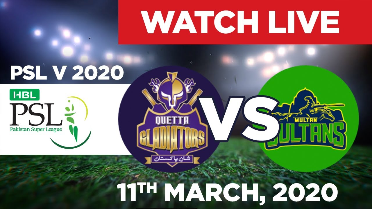 PTV Sports Live Streaming-PSL Live Score-PSL Today Match QG vs MS