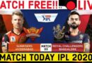 IPL Live-IPL Match-IPL Match Today-RCB vs SRH-IPL 2020
